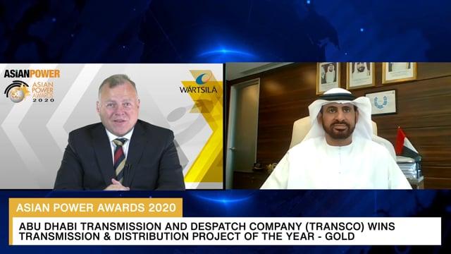 Asian Power Awards 2020 Winner: Abu Dhabi Transmission and Despatch Company (TRANSCO)