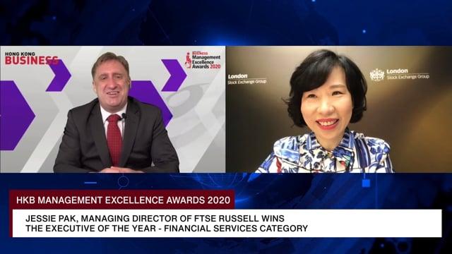 HKB Management Excellence Awards 2020 Winner: Jessie Pak, Managing Director of FTSE Rusell