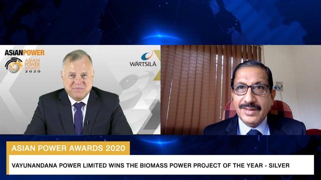 Asian Power Awards 2020 Winner: Vayunandana Power Limited