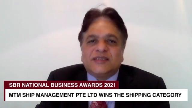 SBR National Business Awards 2021 Winner: MTM SHIP MANAGEMENT PTE LTD