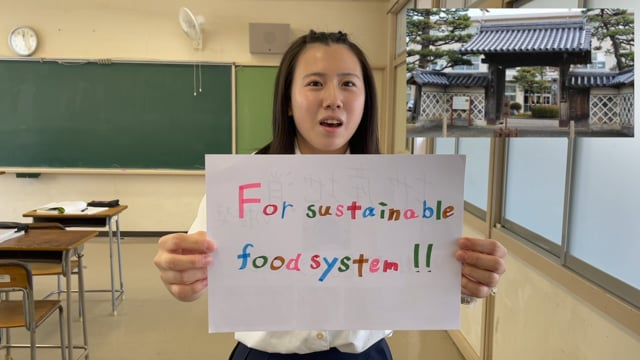 Our ideas for sustainable food system! (Fukui prefectural Wakasa High School)