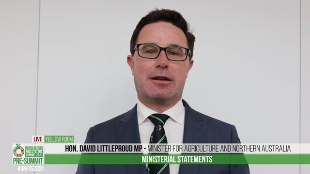 Hon. David Littleproud MP, Minister for Agriculture and Northern Australia