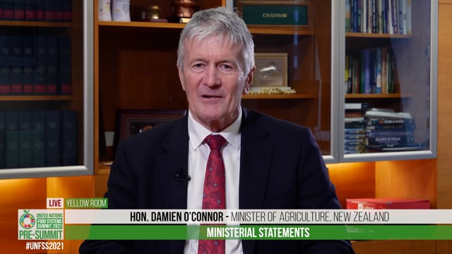 Hon. Damien O'Connor, Minister of Agriculture, New Zealand