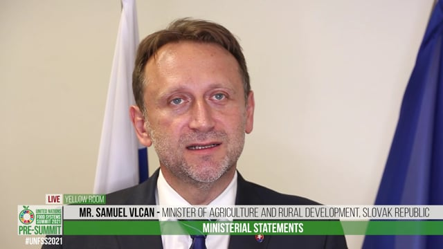 H.E. Samuel Vlcan, Minister of Agriculture and Rural Development of the Slovak Republic