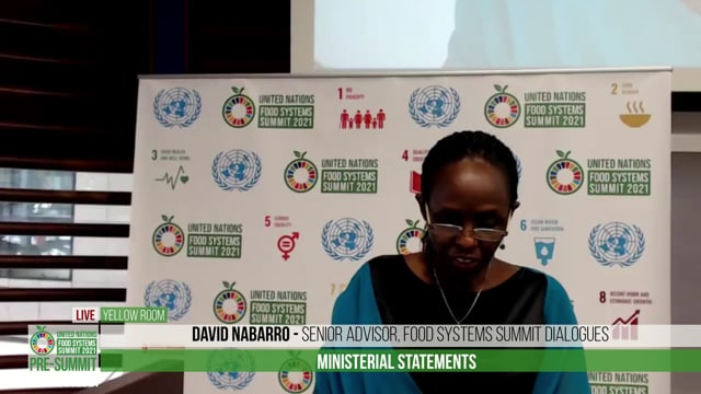 Dr. Agnes Kalibata, Special Envoy of the UN Secretary-General for the 2021 Food Systems Summit  – Opening Remarks, Ministerial Statements