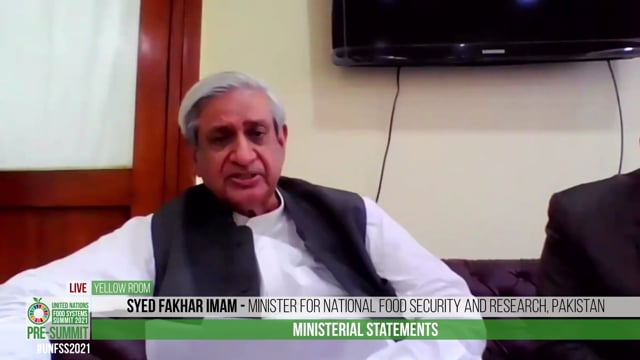 H.E. Syed Fakhar Imam, Minister for National Food Security and Research, Pakistan