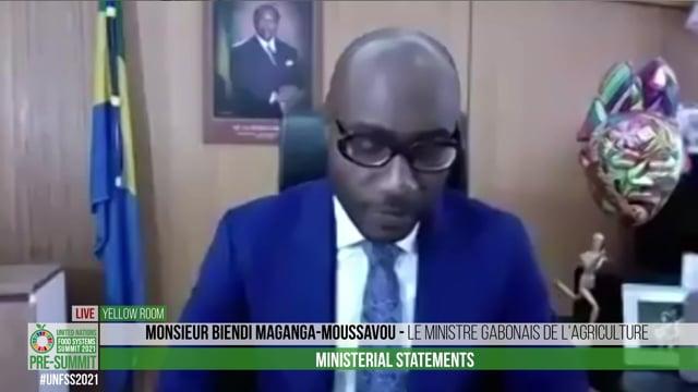 H.E. M. Biendi Maganga-Moussavoule, Ministre Gabonais de l'Agriculture
