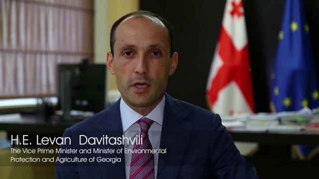 H.E. Levan Davitashvili, The Vice Prime Minister and the Minister of Environmental Protection and Agriculture of Georgia