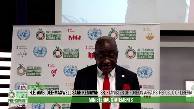 H.E. Amb. Dee-Maxwell Saah Kemayah, Sr., Minister of Foreign Foreigh Affairs, Republic of Liberia
