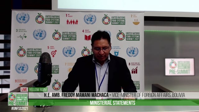 H.E. Amb. Freddy Mamani Machaca, Vice Minister of Foreign Affairs, Bolivia