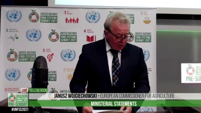 Janusz Wojciechowski, European Commissioner for Agriculture