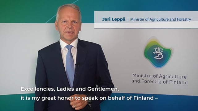 H.E. Jari Leppä, Minister of Agriculture and Forestry, Finland