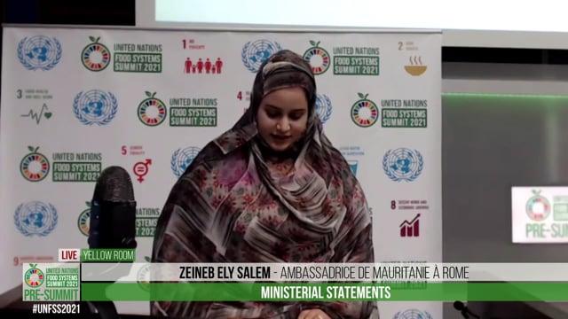 Zeineb Ely Salem, Ambassadrice de Mauritanie à Rome