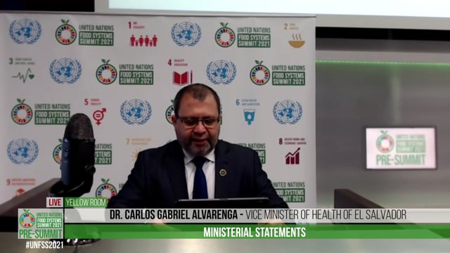 Dr. Carlos Gabriel Alvarenga, Vice Minister of Health of El Salvador