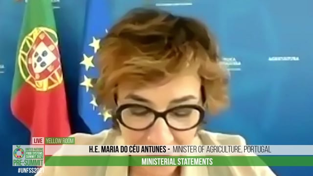 H.E. Maria do Céu Antunes, Minister of Agriculture, Portugal