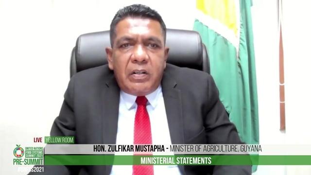 Hon. Zulfikar Mustapha, Minister of Agriculture, Guyana