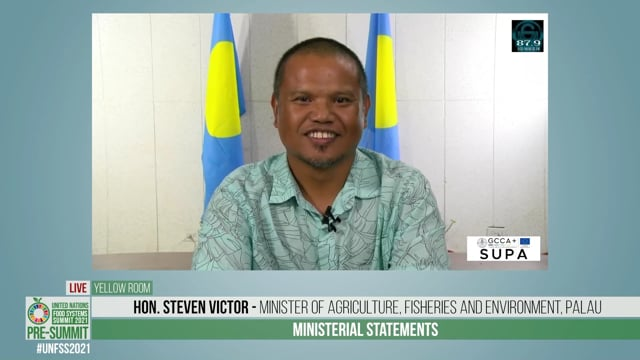 Hon. Steven Victor, Minister of Agriculture, Fisheries and Environment, Palau