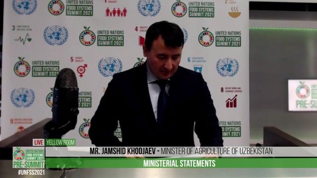 H.E. Mr. Jamshid Khodjaev, Minister of Agriculture of Uzbekistan