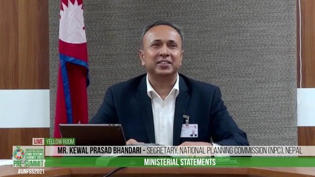 H.E. Kewal Prasad Bhandari, Secretary, National Planning Commission (NPC), Nepal