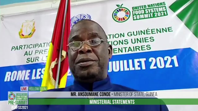 Mr Ansoumane Conde, Minister of State, Guinea