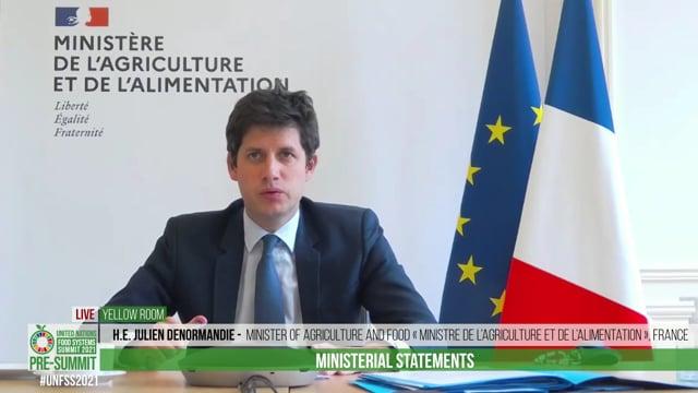 H.E. Julien Denormandie, Minister of Agriculture and Food « Ministre de l'Agriculture et de l'Alimentation », France