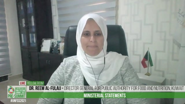 Dr. Reem Al-Fulaij, Director General for Public Authority for Food and Nutrition, Kuwait