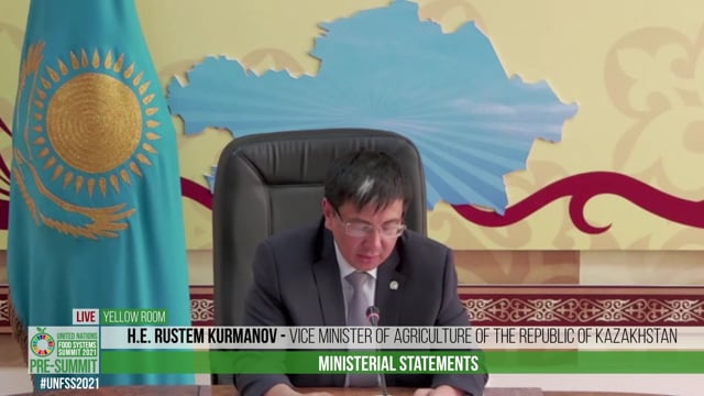 H.E. Rustem Kurmanov, Vice Minister of Agriculture of the Republic of Kazakhstan