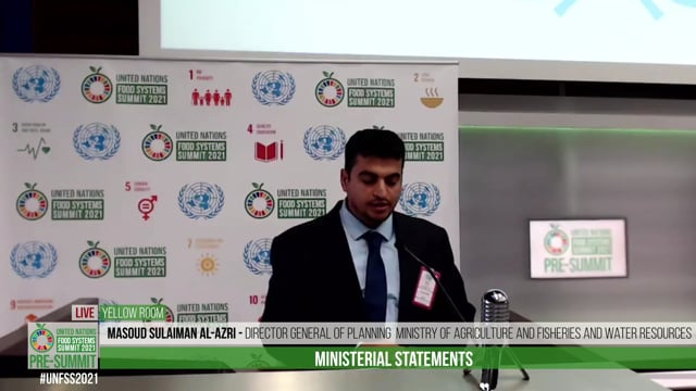 Masoud Sulaiman Al-Azri, Director General of planning, Ministry of Agriculture and Fisheries and Water Resources, Oman