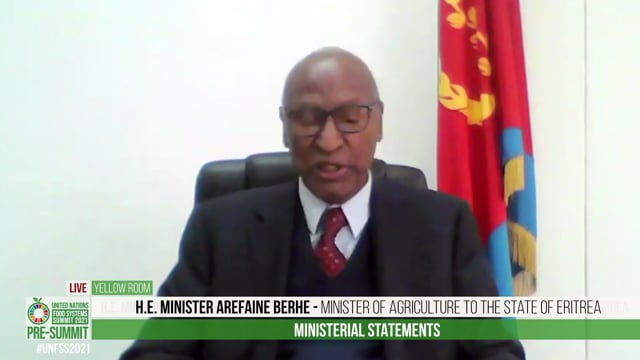 H.E. Minister Arefaine Berhe, Minister of Agriculture to the State of Eritrea