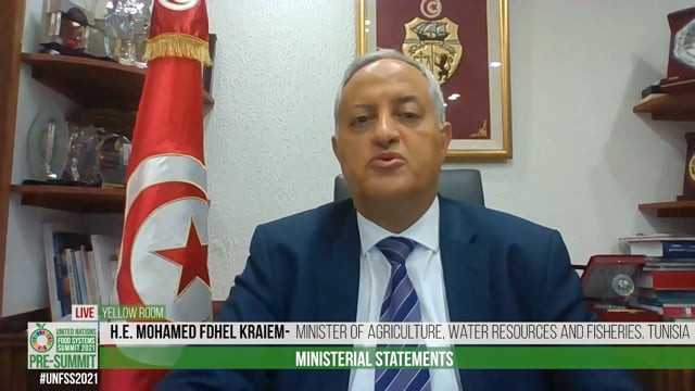 H.E. Mohamed Fdhel Kraiem, Minister of Agriculture, Water Resources and Fisheries, Tunisia