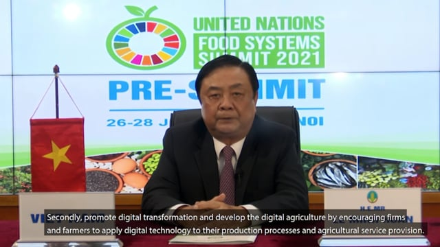 H.E. Mr. Le Minh Hoan, Minister of Agriculture and Rural Development of Vietnam