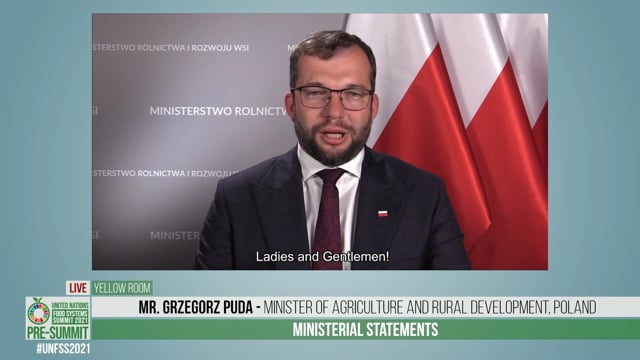 H.E. Grzegorz Puda, Minister of Agriculture and Rural Development of Poland