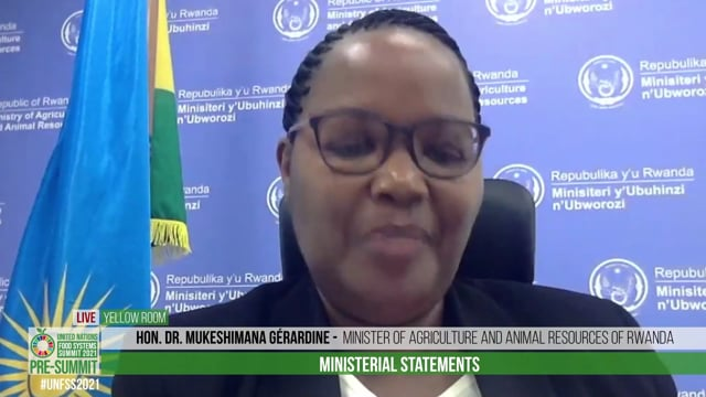 Hon. Dr. Mukeshimana Gérardine, Minister of Agriculture and Animal Resources of Rwanda