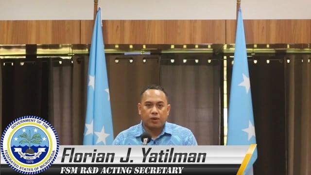 Mr. Florian Yatilman, Acting Secretary, Department of Resources and Development, Micronesia