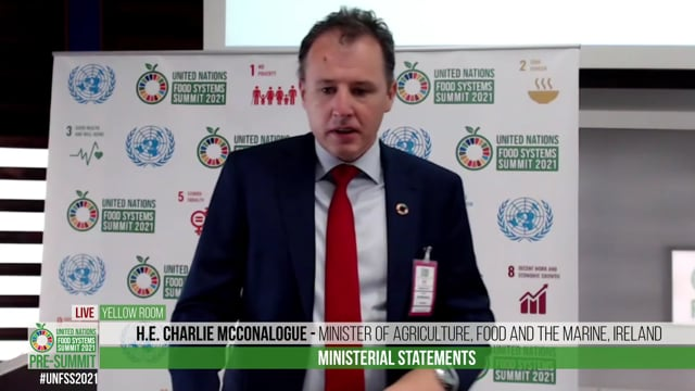 H.E. Charlie McConalogue, Minister of Agriculture, Food and the Marine, Ireland