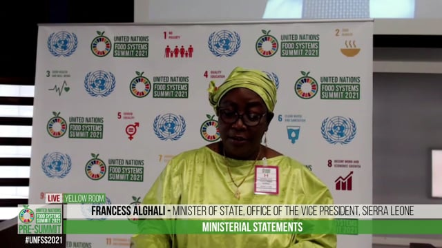 H.E. Francess Alghali, Minister of State, Office of the Vice President, Sierra Leone