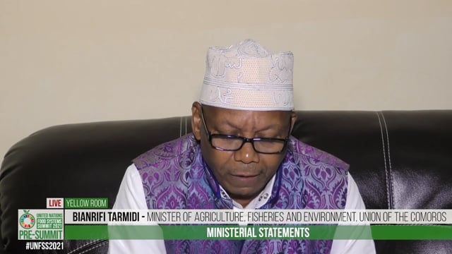 H.E. Bianrifi Tarmidi, Minister of Agriculture, Fisheries and Environment, Union of the Comoros