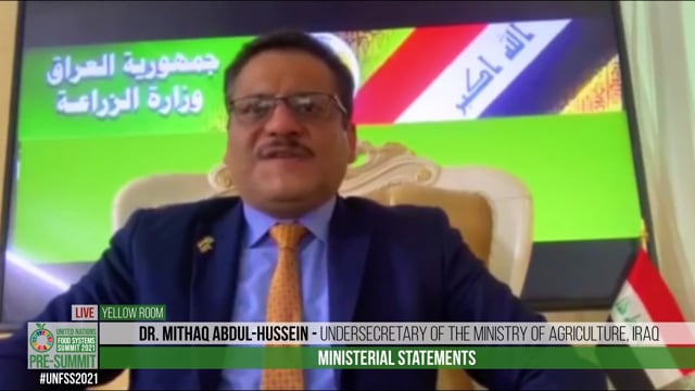 Dr. Mithaq Abdul-Hussein, Undersecretary of the Ministry of Agriculture, Iraq