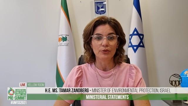 H.E. Ms. Tamar Zandberg, Minister of Environmental Protection, Israel