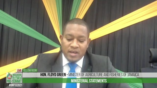 Hon. Floyd Green, Minister of Agriculture and Fisheries of Jamaica