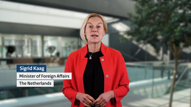 H.E. Minister Sigrid Kaag, Minister of Foreign Affairs, The Netherlands