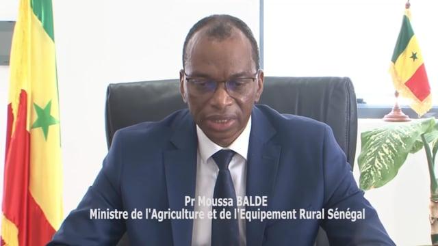 Pr. Moussa Baldem, Ministre de l'Agriculture et de l'Equipement Rural, Sénégal