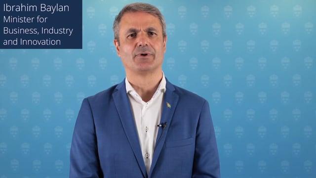 H.E. Ibrahim Baylan, Minister for Business, Industry and Innovation, Sweden