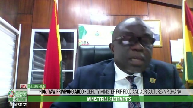 Hon. Yaw Frimpong Addo, Deputy Minister for Food and Agriculture/MP, Ghana