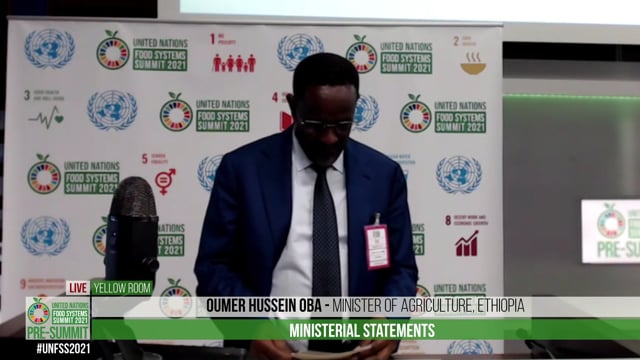 H.E. Oumer Hussein Oba, Minister of Agriculture, Ethiopia