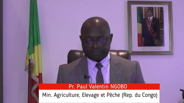 Pr. Paul Valentin Ngobo, Ministre de l'Agriculture, Elevage et Pêche, Rep. du Congo