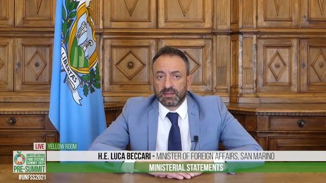 H.E. Luca Beccari, Minister of Foreign Affairs, San Marino