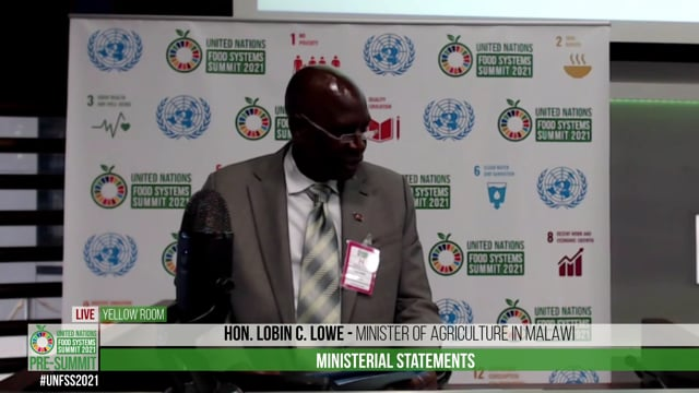 Hon. Lobin C. Lowe, Minister of Agriculture, Malawi