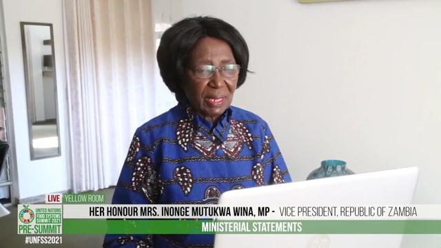 Hon. Inonge Mutukwa Wina, Vice President, Republic of Zambia