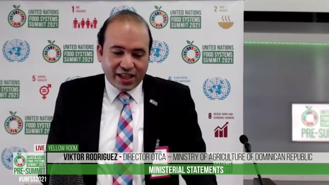 Viktor Rodriguez, Director OTCA – Ministry of Agriculture of Dominican Republic